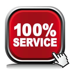 100% SERVICE ICON
