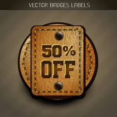 leather discount label
