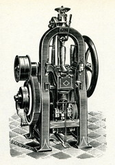 Machine for attaching heels to boots ca. 1900