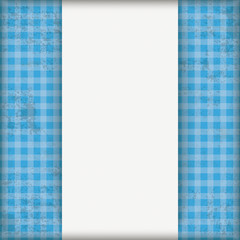 Vintage Blue Checked Cloth Centre