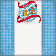 Vintage Blue Checked Cloth Centre Oktoberfest