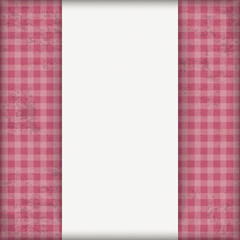 Vintage Pink Checked Cloth Centre