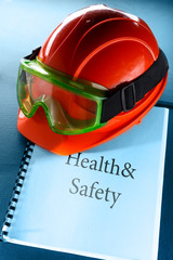 Goggles and red helmet