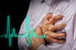 Leinwandbild Motiv Men with chest pain - heart attack
