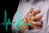 Men with chest pain - heart attack - 69364543