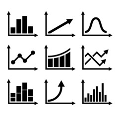 Business Infographic Graph Icons Set. Vector