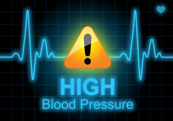 HIGH BLOOD PRESSURE written on heart rate monitor