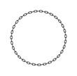 Dark chain in shape of circle