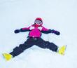 Playful little skier