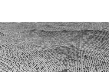 Digitally generated binary code landscape