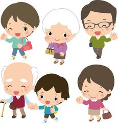 3世代で出かける家族
