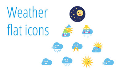 Collection of weather flat icons