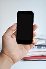 Blank Smartphone screen in hand