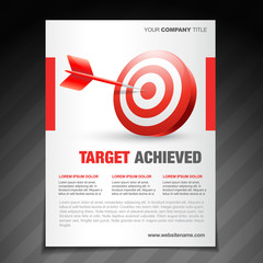achievement  flyer poster template design