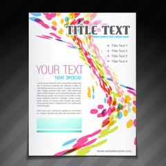 colorful wave brochure flyer design