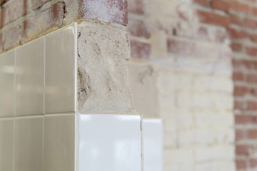 White tiles for the wall