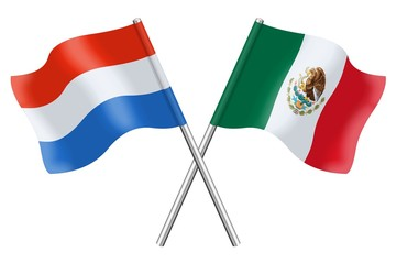 Flags : Luxembourg and Mexico