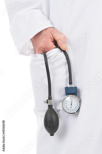 canvas print picture physician with blood pressure meter