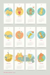 calendar design cat  2015