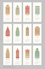 calendar design Europe house 2015