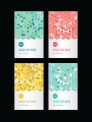 geometric pattern set of cards