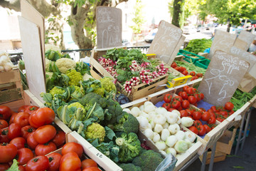 Vegetable market in France