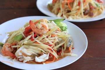 Papaya  salad thai