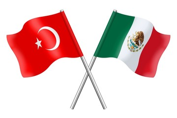 Flags: Turkey and Mexico
