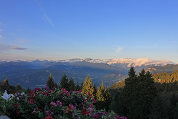 Le Dolomiti del Brenta  viste dal paese di Norge, Trento