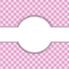 Rosa-weißes Muster mit Freiraum für Text
