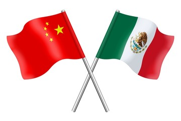 Flags: China and Mexico