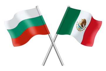 Flags: Bulgaria and Mexico