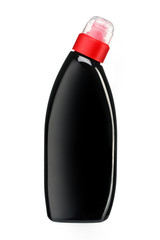 Toilet cleaner bottle with red cap
