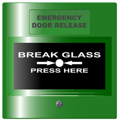 Emergency Door Release Button Green