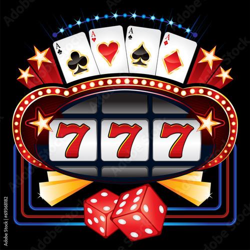 Zdjęcia na płótnie, fototapety, obrazy : Casino machine