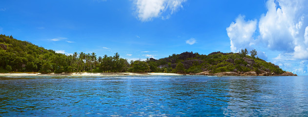 Panorama of tropical island at Seychelles