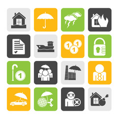 Silhouette Insurance and risk icons