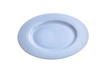 modern ceramic dish on white background