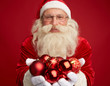Santa with toy balls