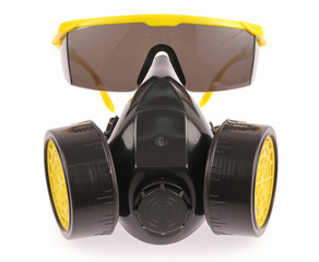 Chemical protective mask and Safety glasses