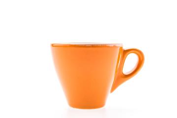Orange mug isolated on white