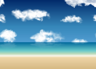Summer view seamless sea background.