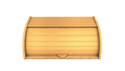 3d bread box render isolated on white