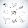 Set of abstract vector geometric shapes