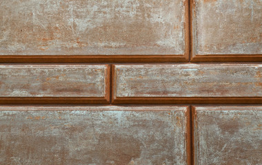 Weathered old stucco wall, closeup background, texture