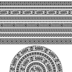 Ethnic geometric design set.