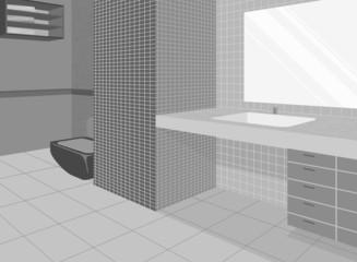 Bathroom home interior