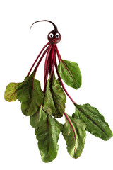 Funny portrait made ​​from beet