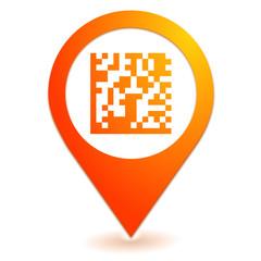 flash code sur symbole localisation orange
