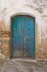 Wooden door. Acerenza. Basilicata. Italy.